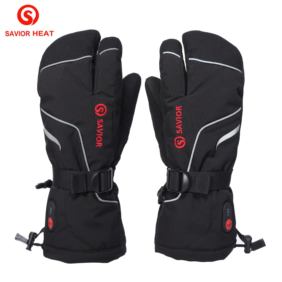 Savior Heat Skiing Gloves 7.4V Electric Battery Winter Warm Outdoor Waterproof Sports Hunting Bicycle Heating Gloves S66G 2021