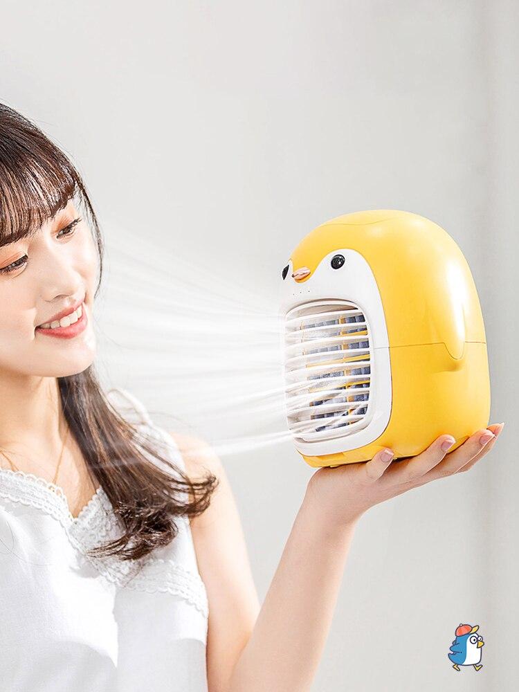 مكيف الهواء المحمولة المنزلية البطريق المياه المبردة مكيف الهواء رذاذ المرطب مبرد الهواء مكتب USB مروحة تبريد المياه