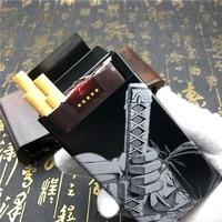 cartoon anime one piece roronoa zoro metal cigarette case large capacity 20pcs cigarettes holder box smoking gadget for men gift