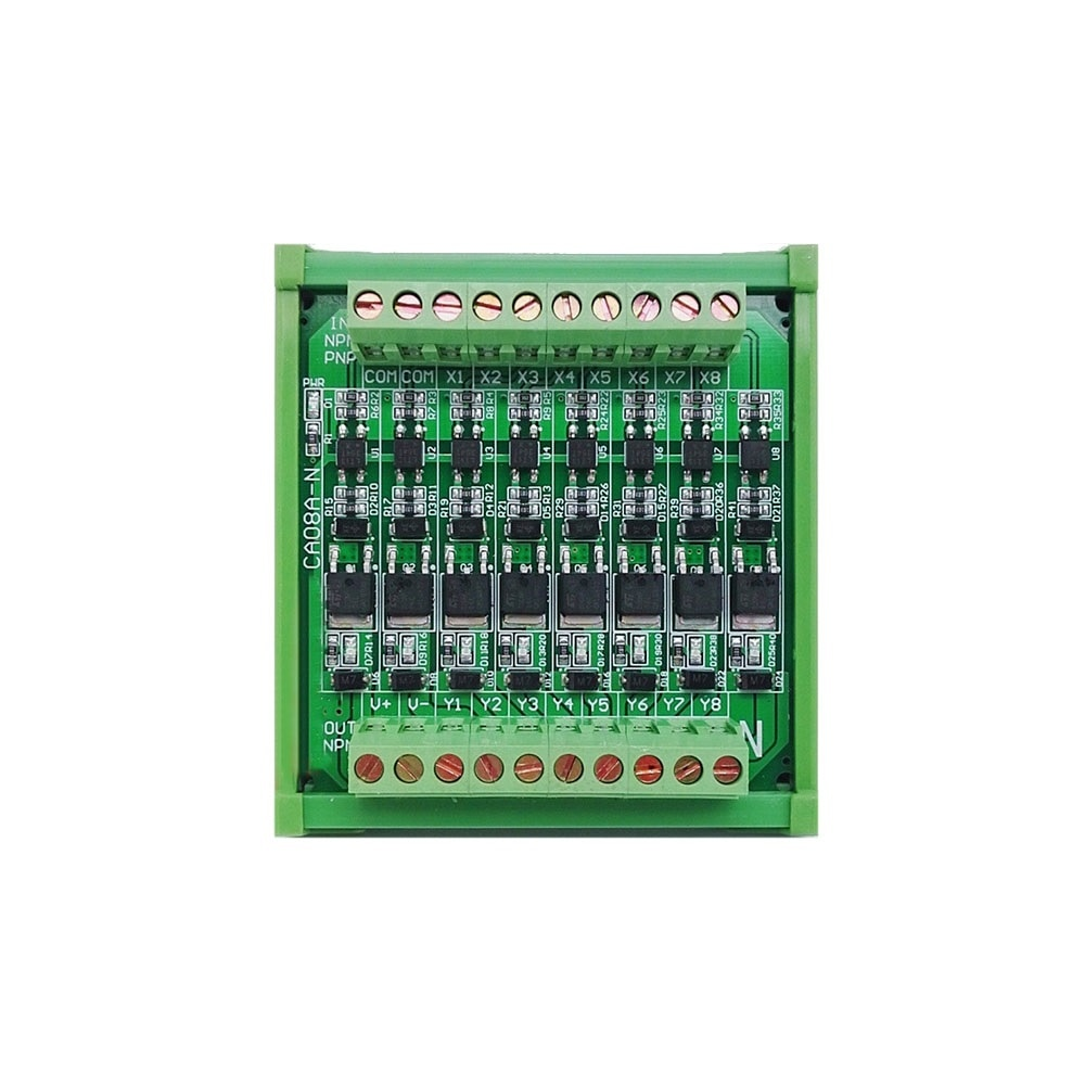 Taidacent 12v-24V CH Current Amplifier Control Board PLC Optocoupler Isolated IO Relay Module 5A High Current Solid State Relay geya gri8 01 current monitoring relay current range 8a 16a ac24v 240v dc24v overcurrent protection relay