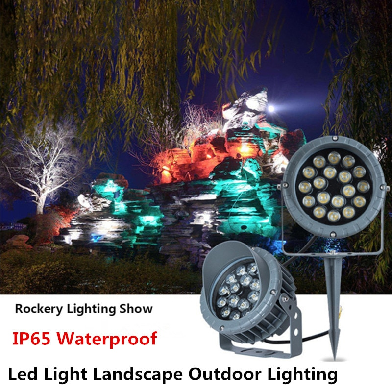 Led Outdoor Spotlight Lawn Lamp Tree Lights Rgb Colorful Garden Light 220V IP65 Waterproof Led Underground Light 36W Path Lights