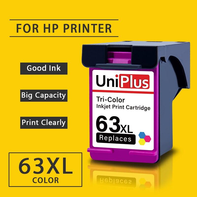 UniPlus 63xl Tri Cor Cartucho de Tinta Compatível para HP hp Deskjet Officejet 63 63 XL 3830 3831 3832 3833 3834 4650 4652 4654
