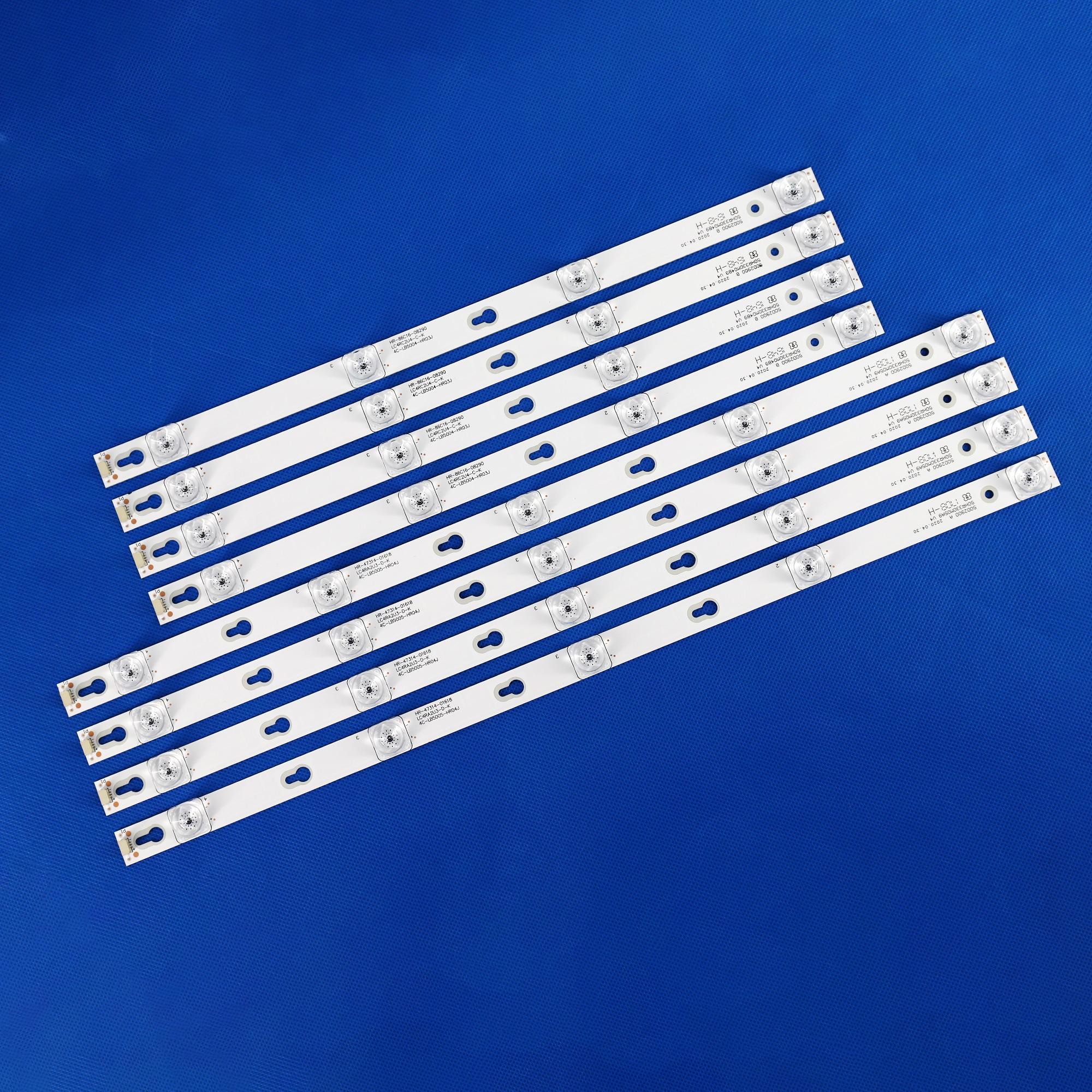 8 قطعة/المجموعة جديد 4c-lb5005-hr03j 4c-lb5004 tcl lcd شريط إضاءة خلفي d50a630u L50E5800A-UD D50A810 D50A630U L50P2-UD 50D2900 4C-LB5005