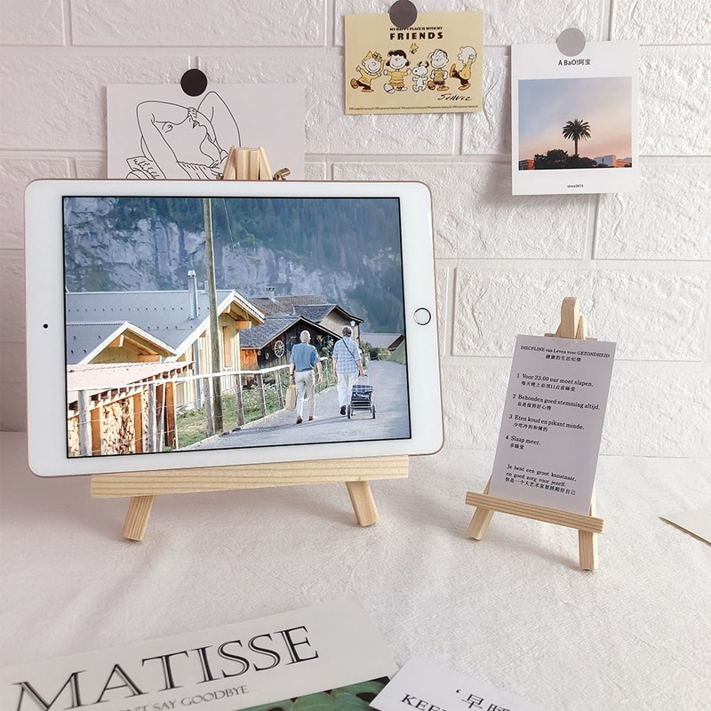 Wooden Desktop Ipad Tablet Mobile Phone Universal Bracket Watching TV And Playing Games Live Stream equipment