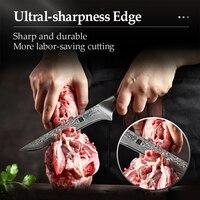 Нож для разделки рыбы из Дамасской стали, длина 29 см. #4