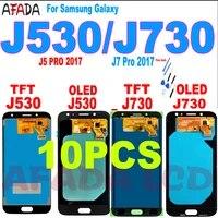 10pc amoled j730 lcd for samsung galaxy j7 pro 2017 j730 j730f lcd display touch screen digitizer assembly j5 pro j530 j530f lcd