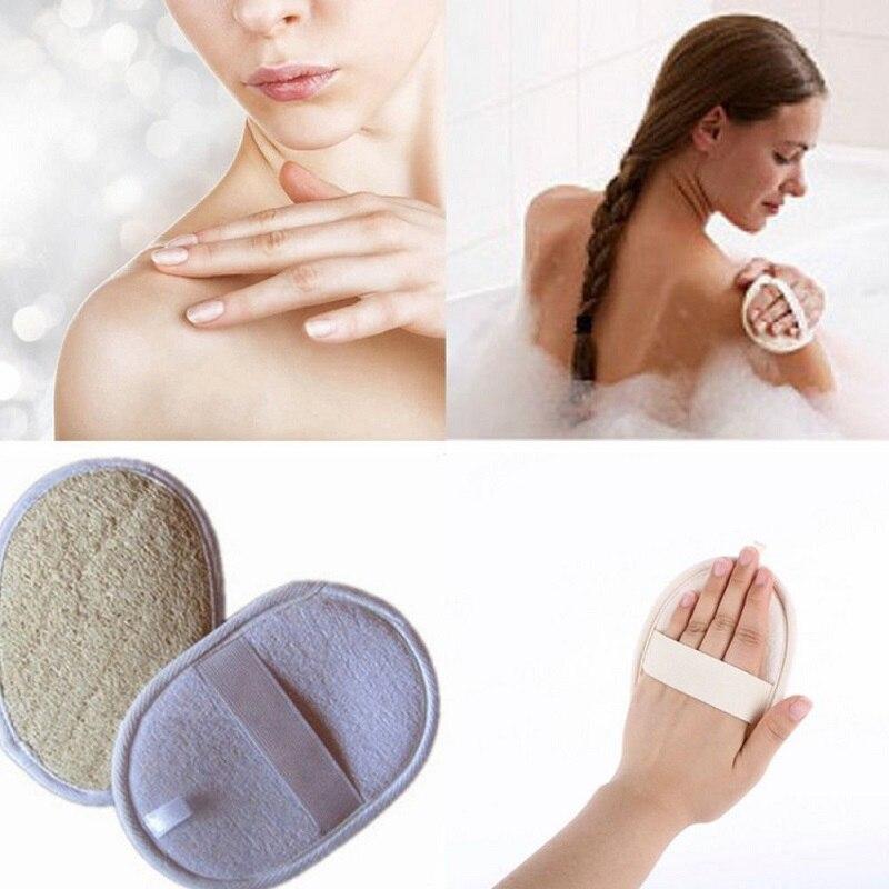 Круглая натуральная щетинная щетка для тела люфа эффективная отшелушивающая щетка для ванны Массажная душевая губка для спа ванны
