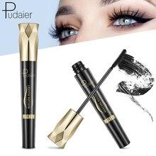 Hot Sale 4d Silk Fiber Mascara Waterproof and Easy to Dry Natural Soft Long Eyelash Makeup Mascara Black Thick Eyelash Cosmetics