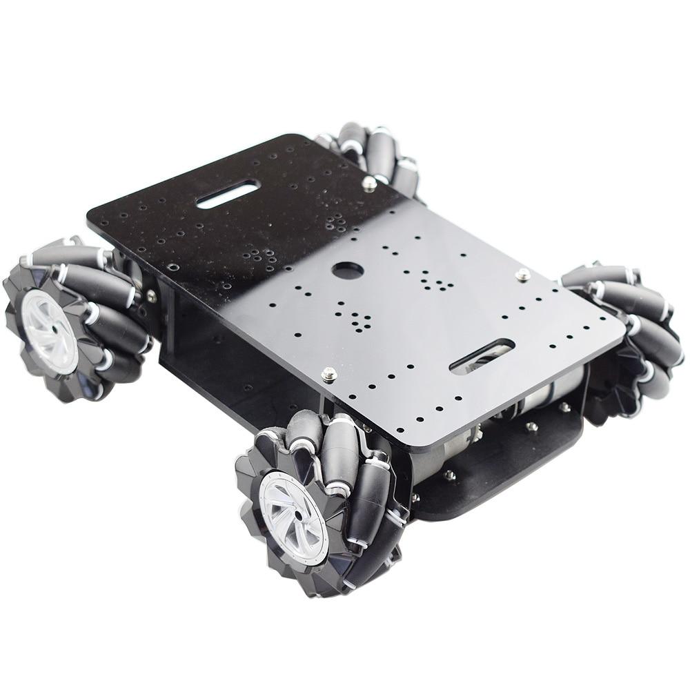New 5KG Load Double Chassis Mecanum Wheel Robot Car Chassis Kit with 4pcs 12V Encoder Motor for Arduino Raspberry Pi DIY STEM enlarge