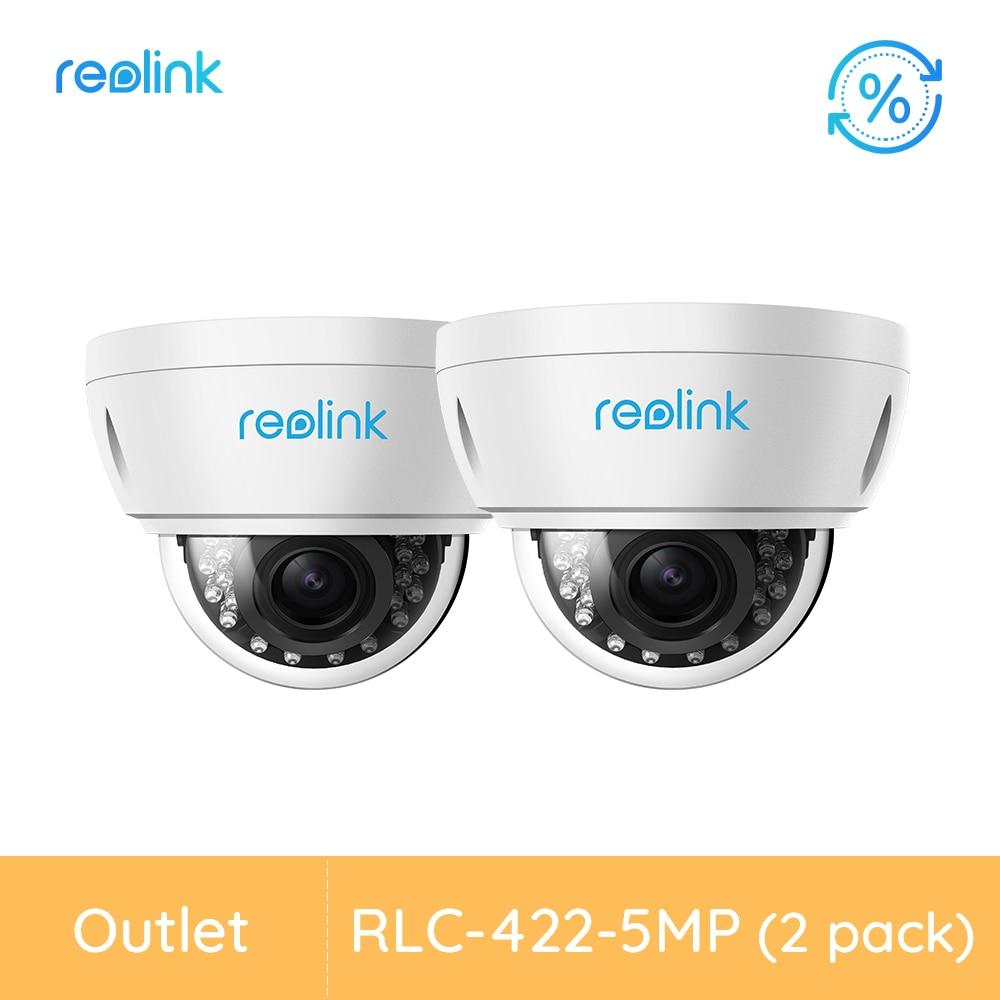 [Remodelado câmera 2 pacote] reolink câmera de segurança ao ar livre poe 4x zoom óptico vândalo câmera de vigilância à prova RLC-422-5MP