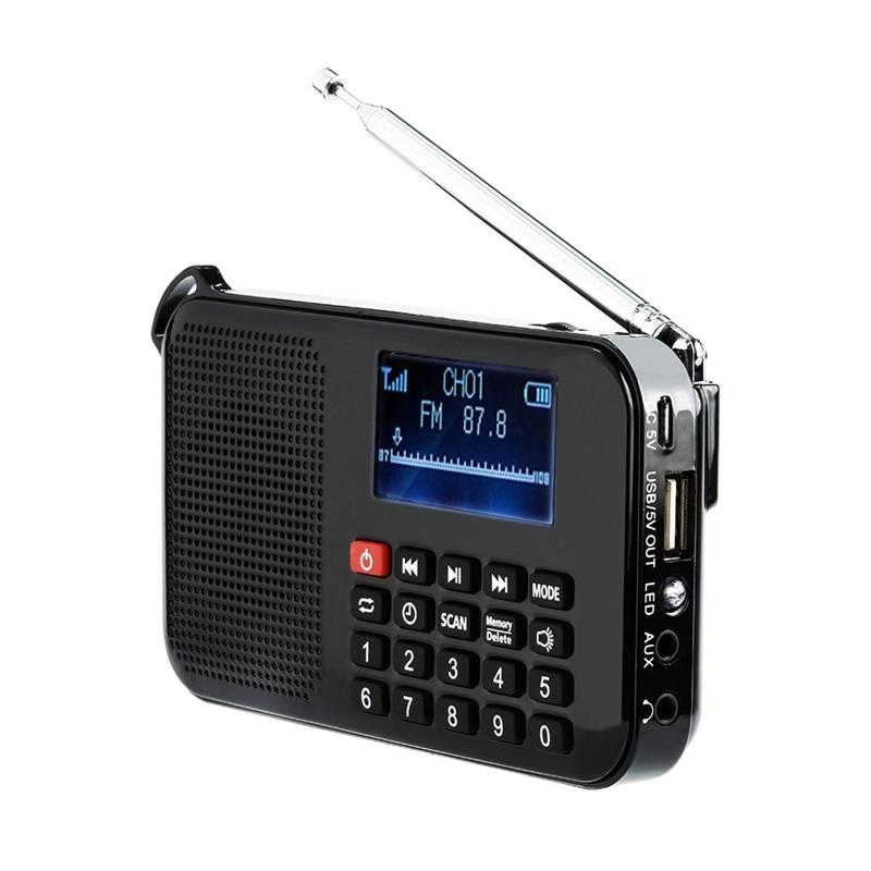 Solar Portable FM Pocket Radio Speaker Music Player with Flashlight,Sleep Timer, Support TF Card