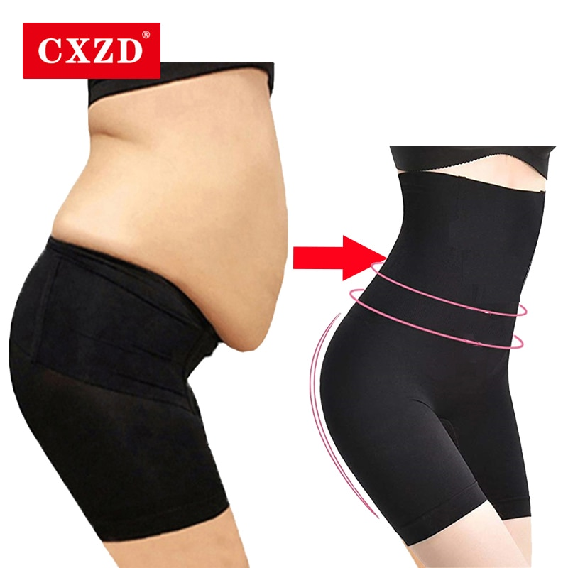 CXZD-مشد البطن للنساء ، سراويل داخلية عالية الخصر ، منتصف الفخذ ، تشكيل الجسم
