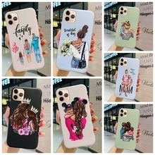Case For Meizu M8 Lite X8 V8 Prime Pro Cover Super Mom And Cute Baby Painted Matte Soft Silicone Pro