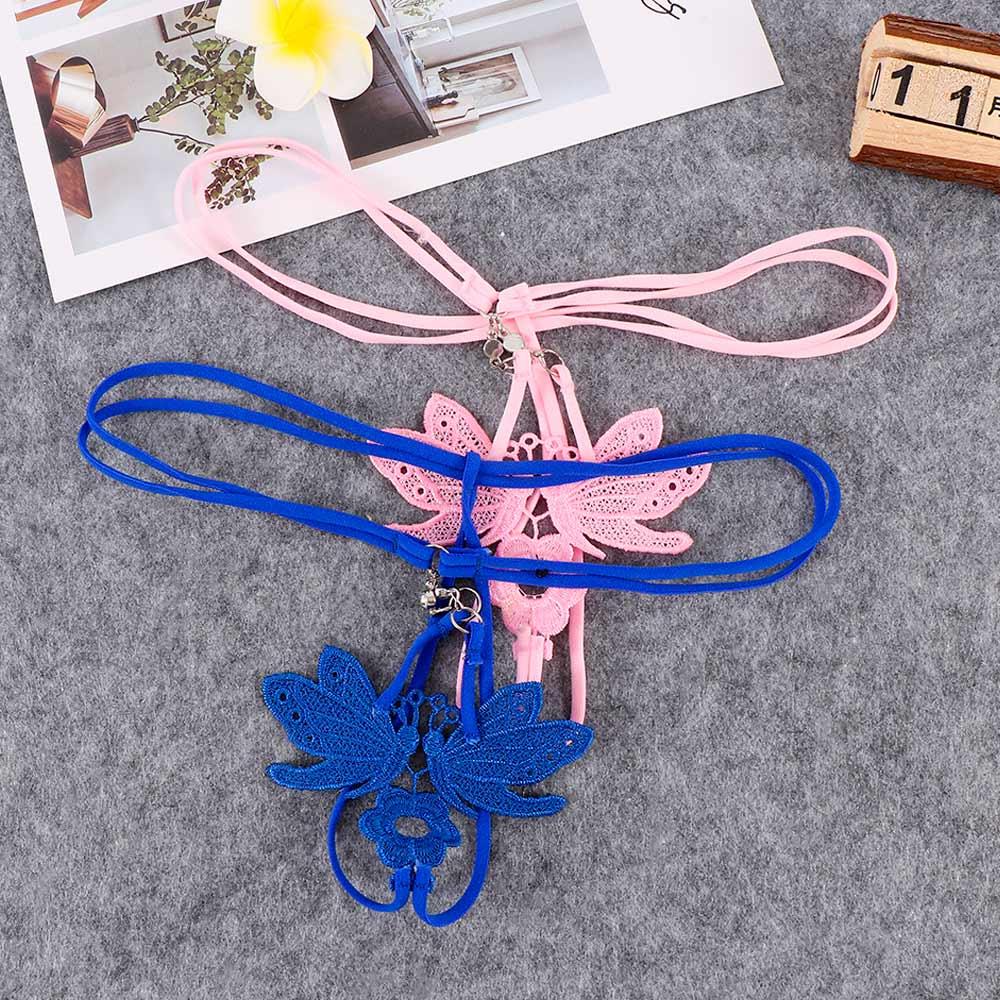 Neue Frauen Sexy Schmetterling Thongs Dessous Transparent Höschen Briefs Metall Kette G-string Nahtlose Dünnen Gürtel Höschen G-strings