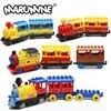 Marumine – Train classique à piles blocs de construction jouet éducatif pour enfants Train électrique cadeau