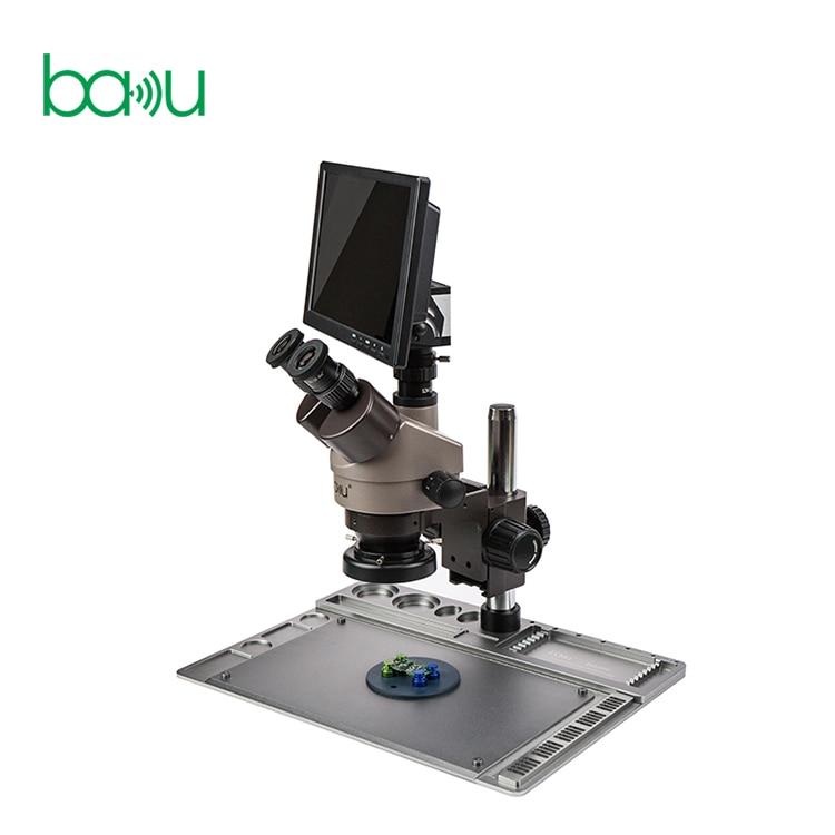 باكو ba-011 أحدث كاميرا فيديو مجهر ثنائي العينين مع حامل الجدول لإصلاح ثنائي الفينيل متعدد الكلور مصلحة الارصاد الجوية
