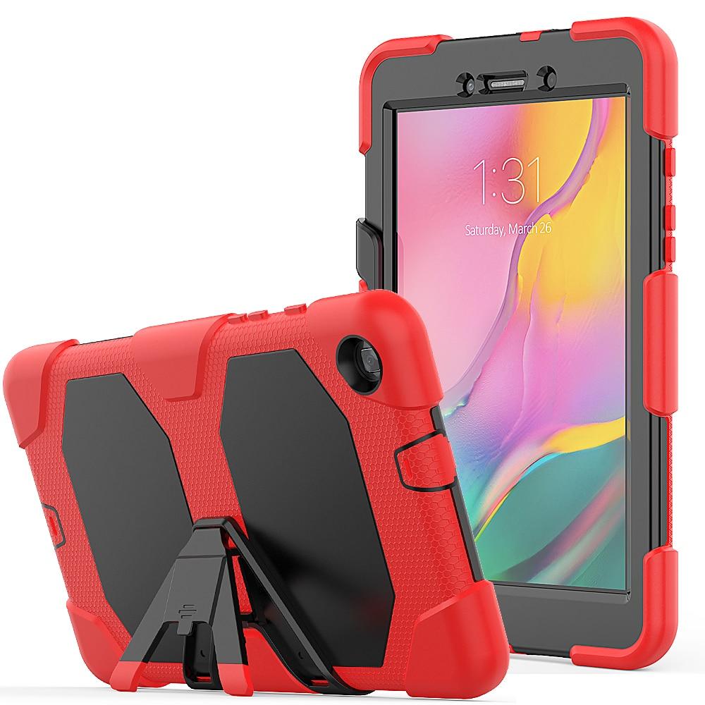 Funda para Samsung Galaxy Tab A 8,0 pulgadas 2019 SM-T290 SM-T295 T290 T295 Tablet funda A prueba de golpes niños silicona segura con cubierta de soporte