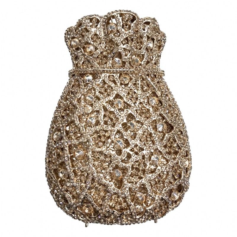 حقيبة يد نسائية من الكريستال ، حقيبة يد فاخرة من الكريستال الأرجواني الماسي ، حقيبة سهرة ، حقيبة يد ومحافظ