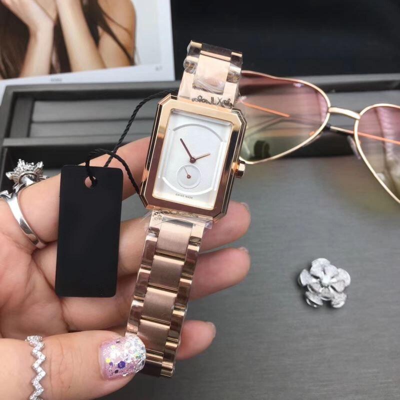 Rose Gold Watch Women Square Quartz Waterproof Lady Wristwatches Steel Band Top Brand Luxury Elegant aaa Watch Reloj de mujer