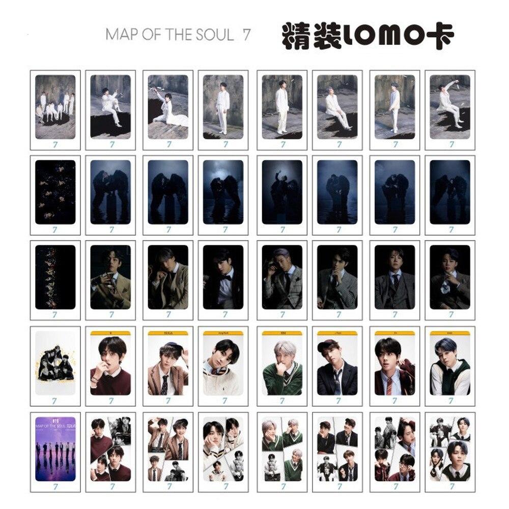 Mapa del alma 7 SUGA JIN JUNGKOOK JIMIN JHOPE V RM estrella KPOP Lomo tarjeta tarjetas fotográficas postal foto juguete Fans regalo
