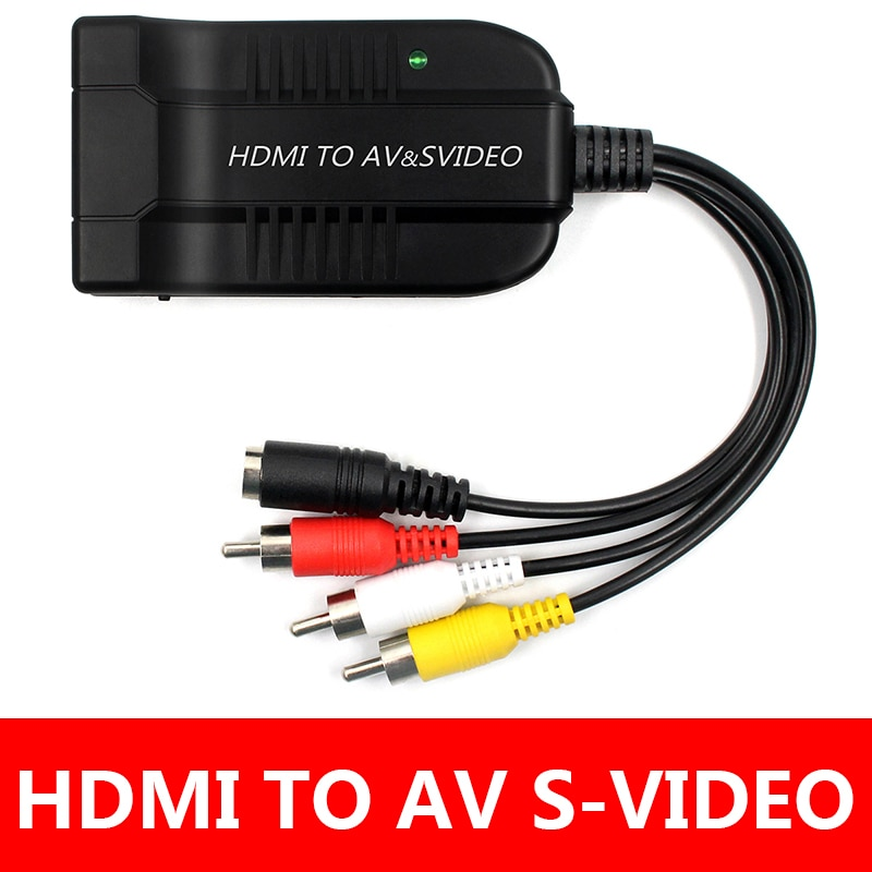 HDMI a SVideo convertidor Adaptador HDMI a RCA R/L Adaptador convertidor de...