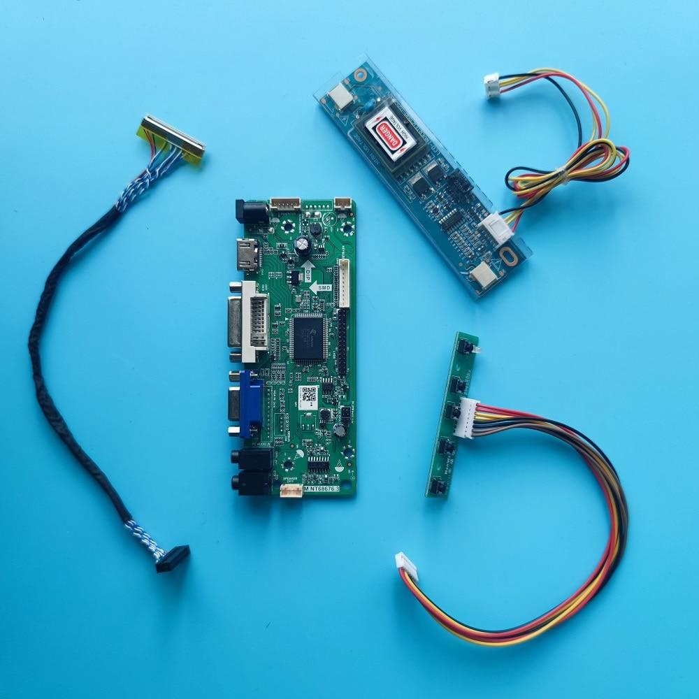 M.NT68676 HDMI-متوافق + DVI + AUDIO + VGA + وحدة تحكم بشاشة إل سي دي لوحة للقيادة عدة عرض ل M185XW01 1366*768 18.5