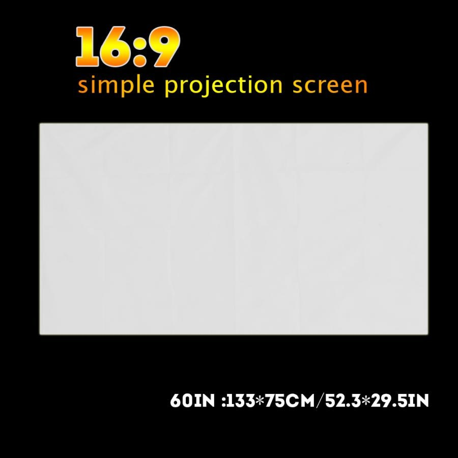 Proyector de Color blanco portátil con holograma, pantalla de proyección de cortina...