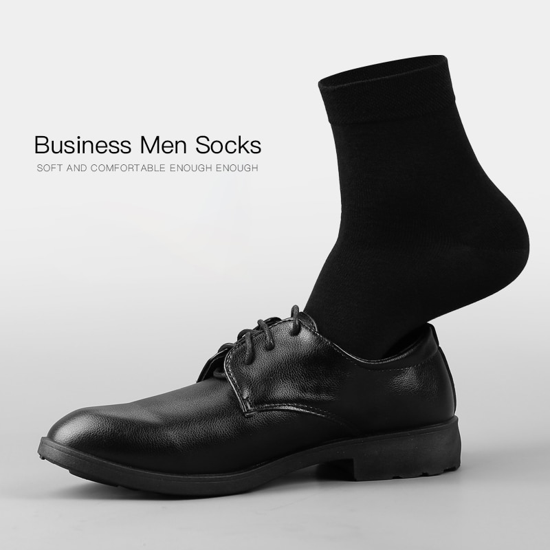 2021 Men's Cotton Socks New styles 10 Pairs / Lot Black Business Men hose Breathable Spring Summer for Male US size(6.5-12)