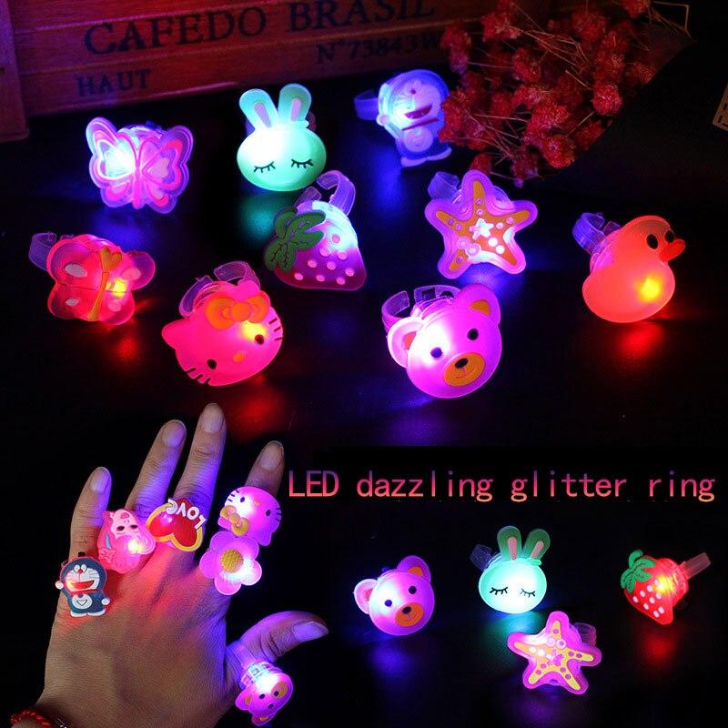 Светящиеся кольца 12 шт., новинка, детские игрушки, флеш-подарки, светодиодные Мультяшные огни, светится в темноте игрушек для детей, играющих...