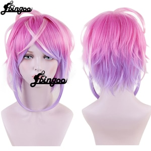 【Ebingoo】Division Rap Battle Hypnosis MIC Amemura Ramuda Short Wig Cosplay Costume Men Women Heat Resistant Synthetic Hair Wigs