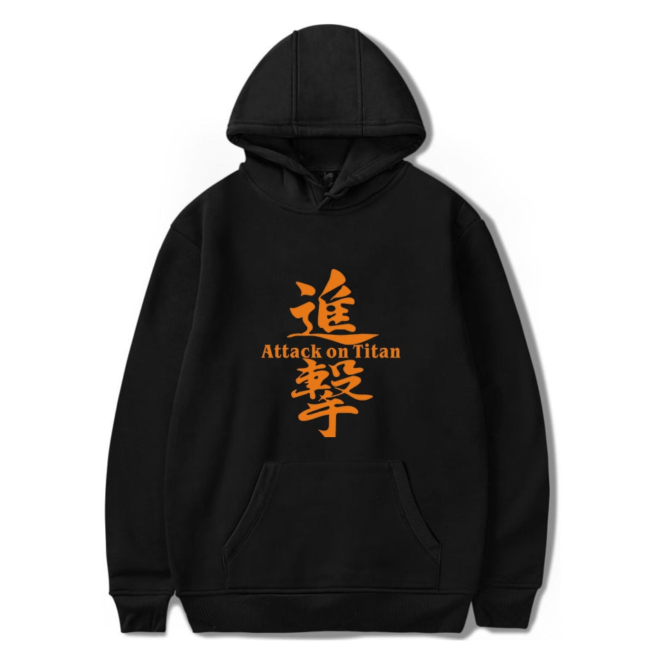 Attack On Titan Hoodies Mens Sweatshirts Hot Sale Black Anime Hoodie Boys Cotton high quality Streetwear Student Popular Clothes