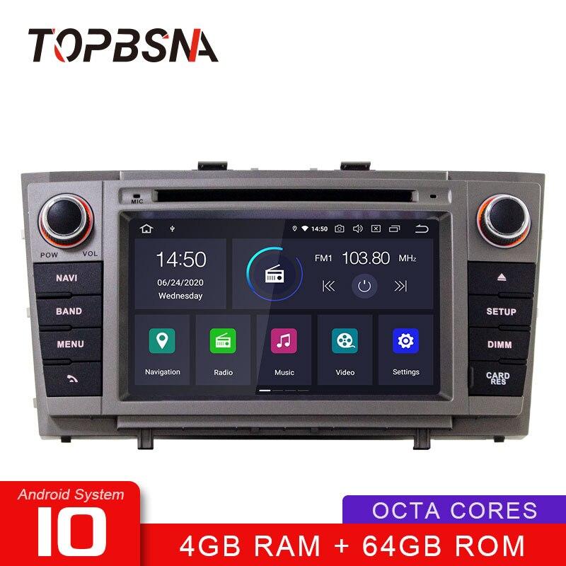 TOPBSNA reproductor de DVD del coche Android 10 para Toyota T27 Avensis 2008-2013 GPS de navegación Multimedia 2 Din auto Radio estéreo WIFI RDS IPS