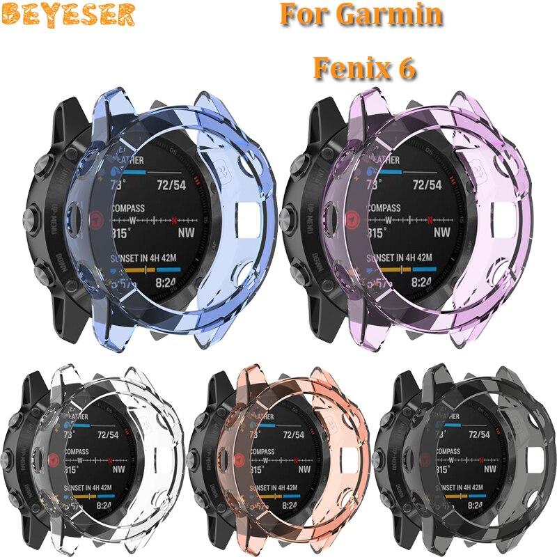 Smart accessories For Garmin Fenix 6 6 Pro TPU sport watch Protector Case For Garmin Fenix 6 6 Pro cover Protective shell