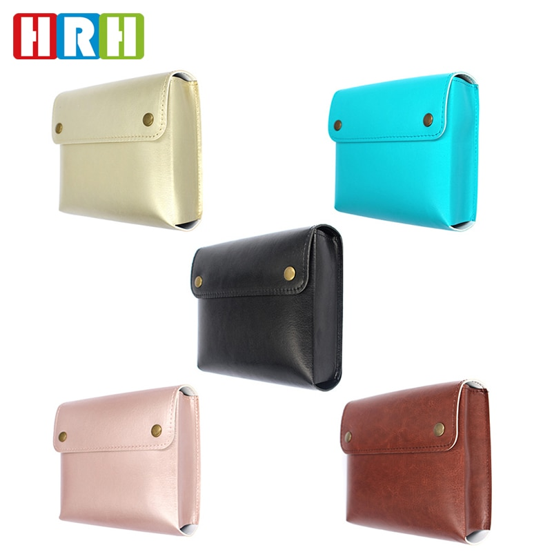 HRH Protetive case PU Leather Pouch Cover powerbank pro case for xiaomi  for huawei any powerbank (No PowerBank)