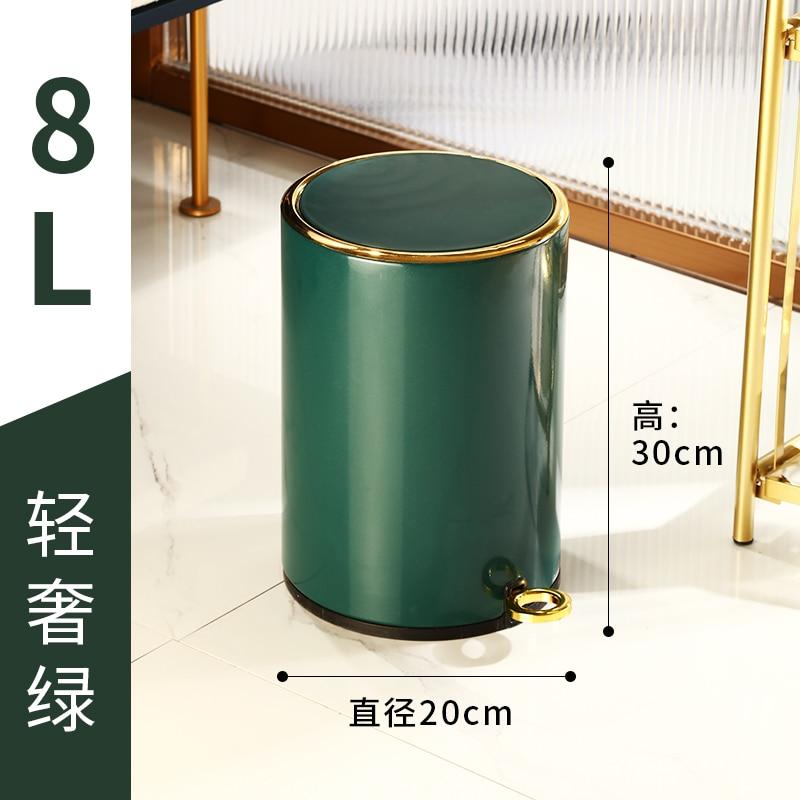 Nordic Modern Trash Can Luxury Creativity Stainless Steel Kitchen Trash Bin Room Accessories Poubelle De Cuisine Storage BC50LJ enlarge