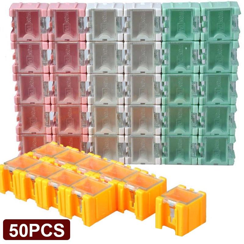 50 шт. SMT SMD электронный компонент ящики для хранения контейнеров электронный Чехол комплект мини-накопительные Компоненты самоблокирующийс...