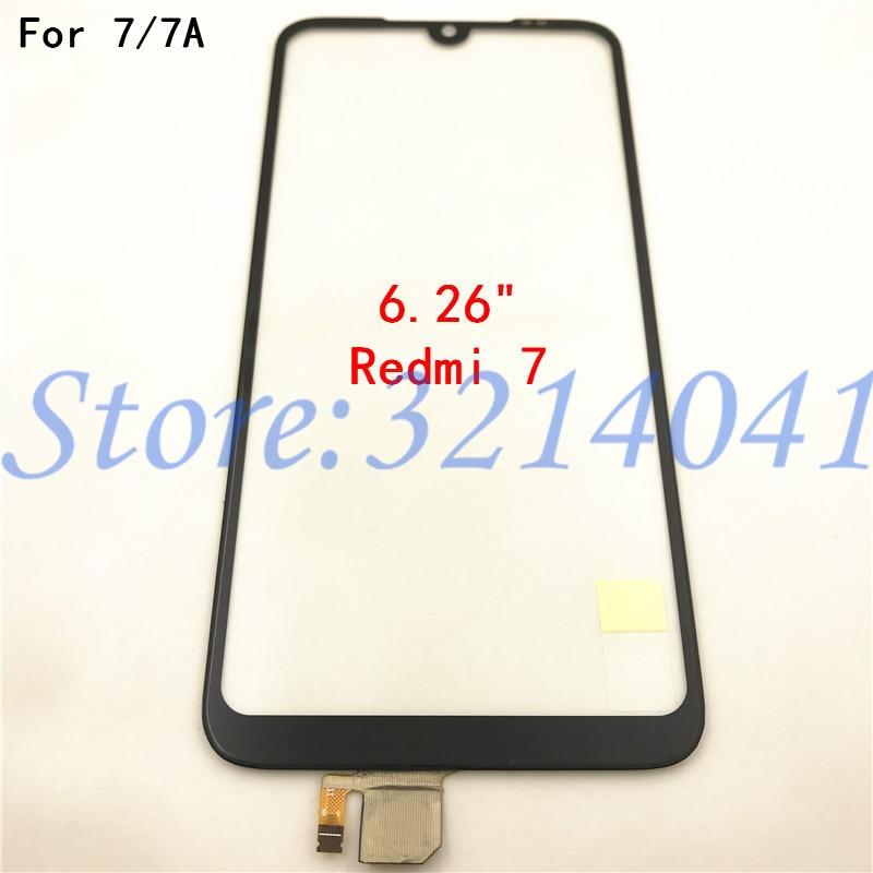 Panel de pantalla táctil para Xiaomi Redmi 7 7A Panel de pantalla táctil Sensor digitalizador cristal frontal piezas de reparación de teléfonos
