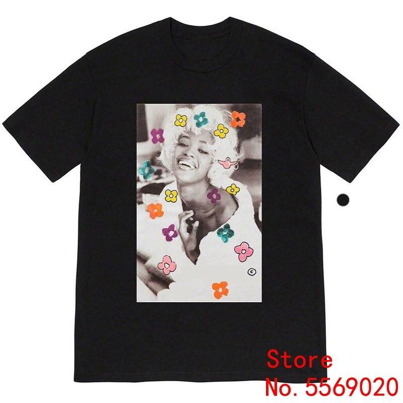 20ss Sureme Supermodel Printed Tees Men Women Couples Short Sleeve T Shirts Bogo  Basic Cotton T-Shirt Men