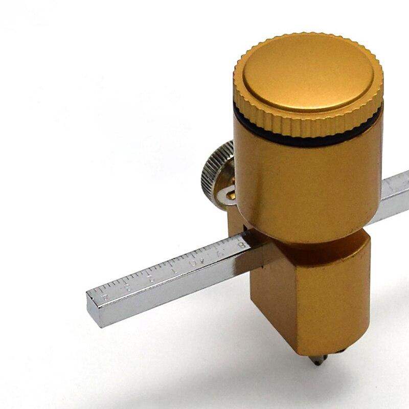 Ouro cilindro de óleo bússola vidro corte faca redonda multifuncional bússola corte e ventosa faca vidro
