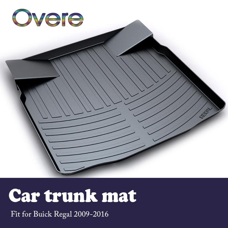 Mutips 1Set coche de carga esterilla trasera del maletero para Buick Regal 2009, 2010, 2011, 2012, 2013, 2014, 2015, 2016 impermeable alfombra Anti-slip mat pad
