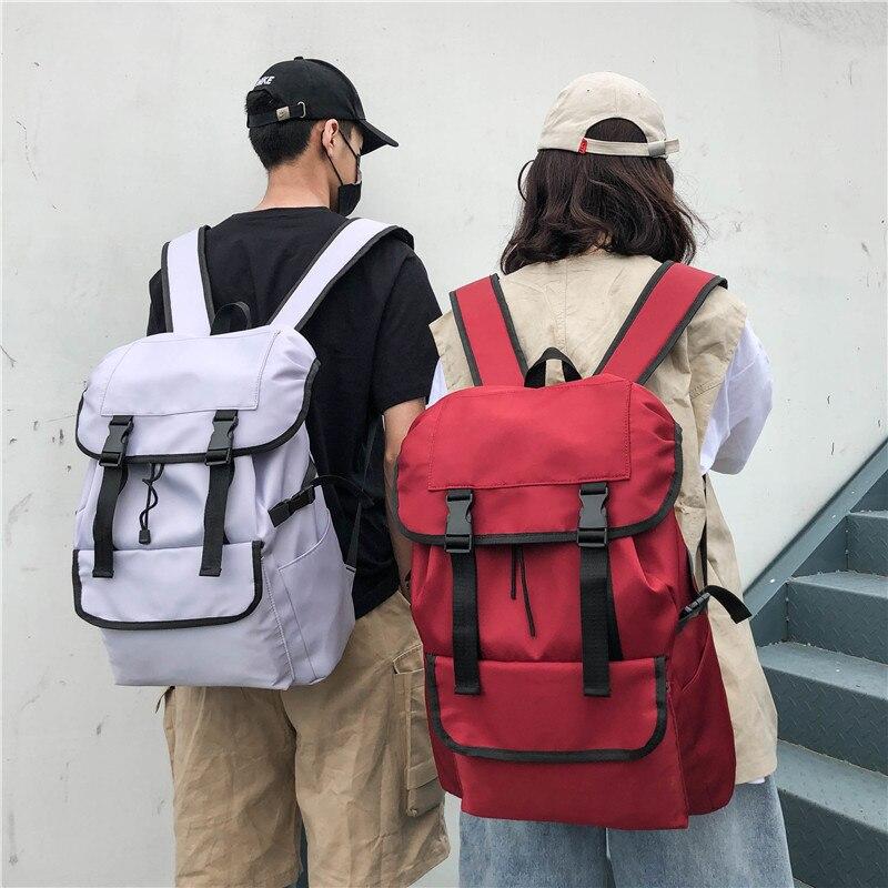 Large Capacity Unisex Street Backpack Vintage Nylon Waterproof Men Laptop Backpack Fashion Men and Women Leisure Travel Backpack