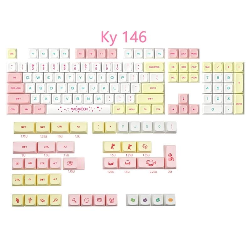 Sublimação para Gh60 Conjunto Chaves Perfil Pbt Macaron Keycaps Tintura Gk61 Cereja mx Interruptor Teclado Mecânico Keycap 1 146 Xda