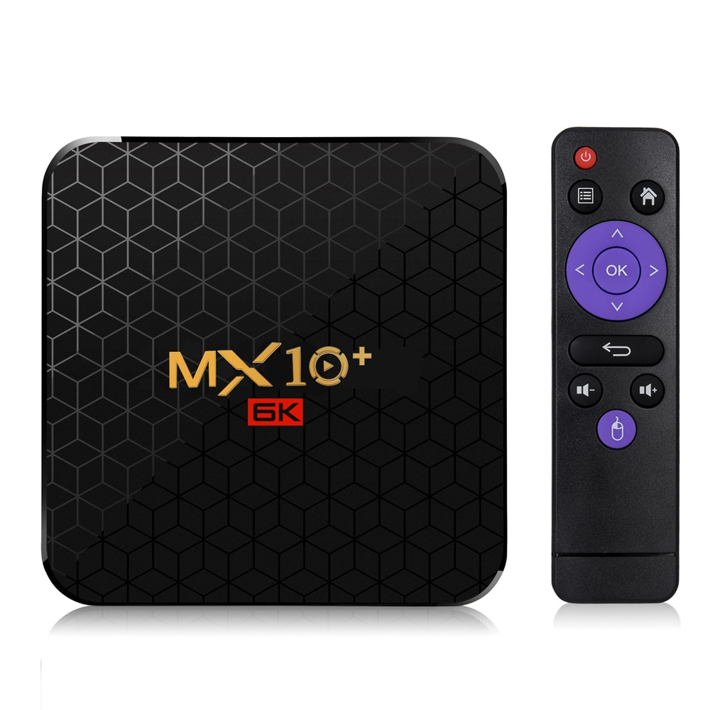 MX10 Plus TV Box 4GB 32GB/64GB Android 9,0 inteligente STB Set Top caja de 6K Wifi Media Player receptor de TV MX10 + USB3.0 Set-top Box