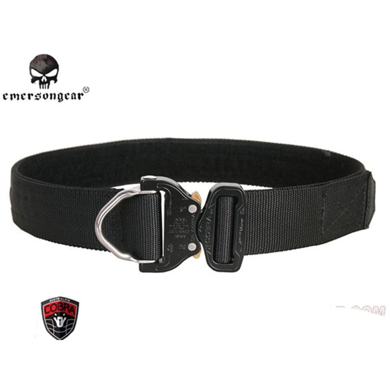 Emersongear Tactical Belt D-Ring Duty Waist Rigger Belt AustriAlpin Buckle Quick Released Mens Airsoft Military Hunting Belt