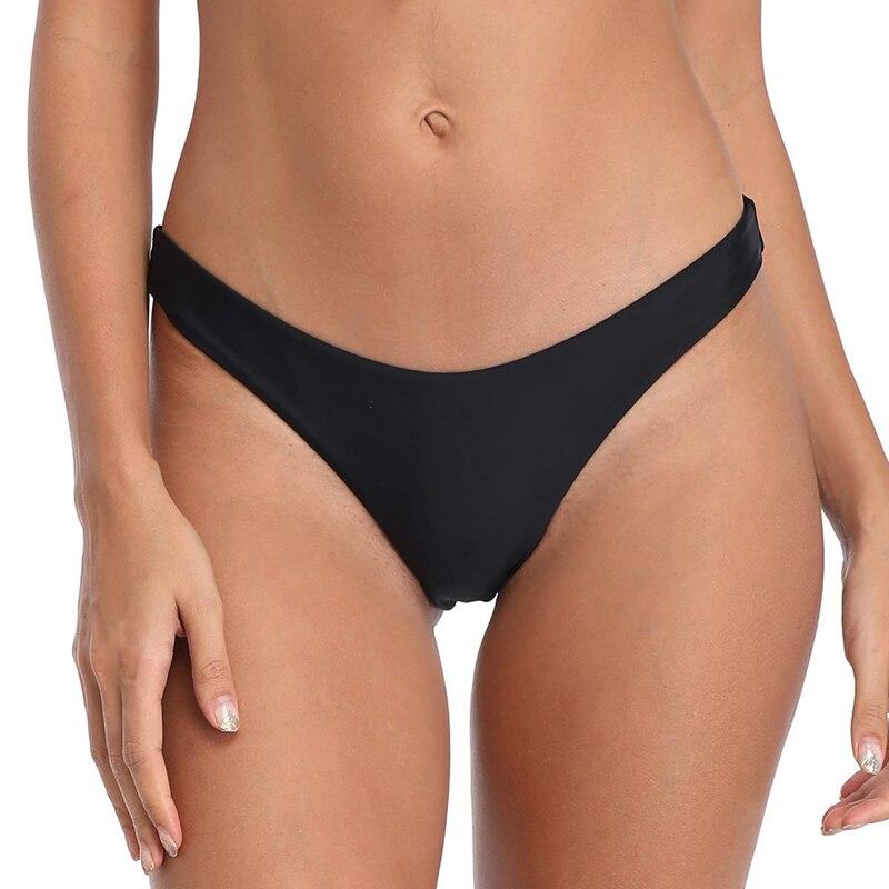 LOOZYKIT, Bikini brasileño descarado básico para mujer, suela alta, Tanga, traje de baño femenino de cintura baja, calzoncillos para natación, pantalones cortos, bañadores de cintura baja