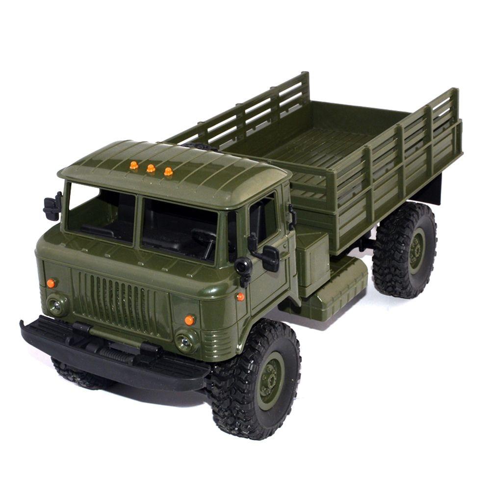 WPL B-24 1 16 RTR 2.4G RC Crawler Truck Car Remote Control Kids Toy Car (ArmyGreen ) Racing Truck  Army green  LED  ABS,Plastic