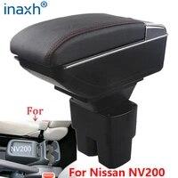 for nissan nv200 armrest box retrofit parts interior car armrest storage box accessories retrofit parts usb led