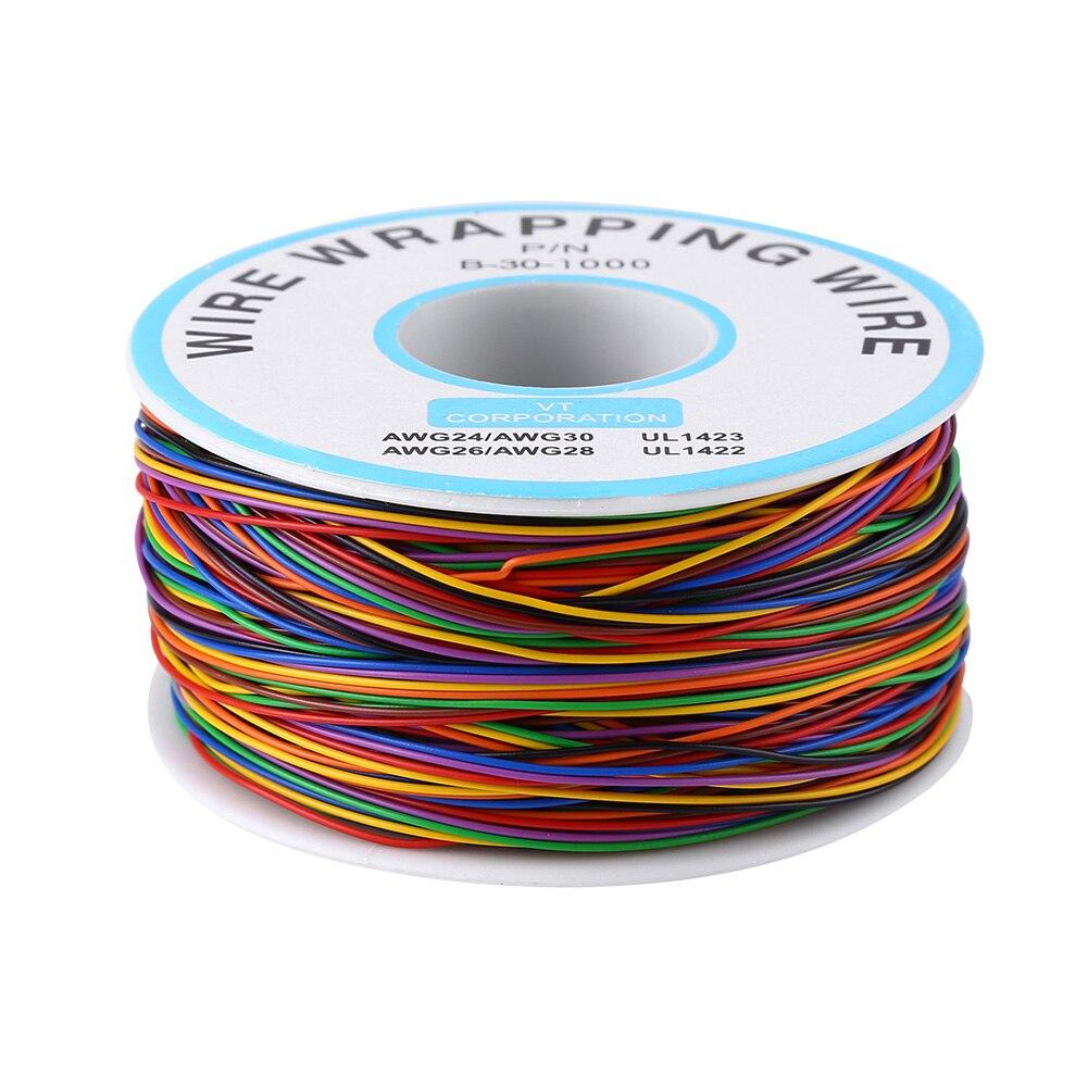 ANENG-alambre de cobre Chapado en estaño de 0,25mm, B-30-1000 P/N colorido de...