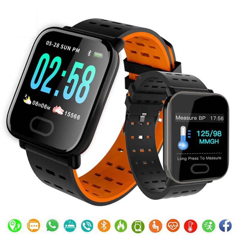A6 Smart Watch Sport Pedometer Bracelet Blood Pressure Heart Rate Monitor Smartwatch Bluetooth connect Android IOS Phone