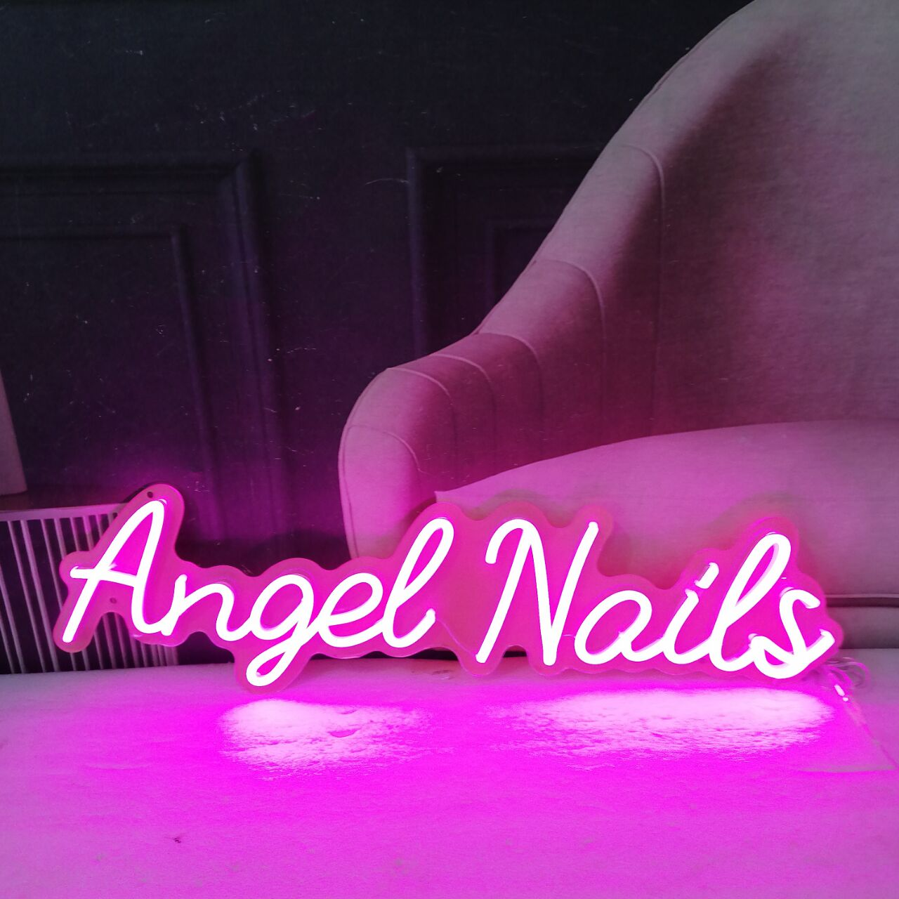 Personalized Neon Signs Wall Hanging Decor for Business Logo Slogan Barber Salon Led Neon Sign Nail Shop Neon Sign Board